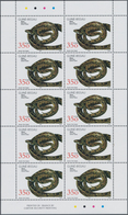 Guinea-Bissau: 2002, REPTILES, Complete Set Of Four In Miniature Sheets With Ten Stamps Each, In An - Guinée-Bissau