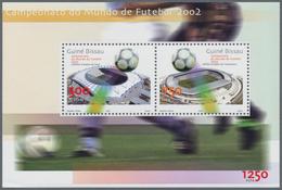 Guinea-Bissau: 2002, WORLD CUP, Souvenir Sheet, Investment Lot Of 1000 Copies Mint Never Hinged (Mi. - Guinée-Bissau