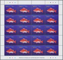 Guinea-Bissau: 2002, FISHES, Souvenir Sheet, Investment Lot Of 500 Copies Mint Never Hinged (Mi.no. - Guinée-Bissau