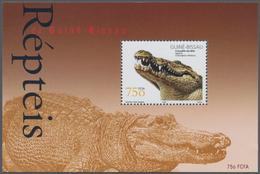 Guinea-Bissau: 2002, REPTILES, Souvenir Sheet, Investment Lot Of 1000 Copies Mint Never Hinged (Mi.n - Guinée-Bissau