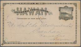Hawaii - Ganzsachen: 1882/99 (ca.), Cards (5) Inc. Three Used: 2 C. Inner-islands 1886, Resp. 1893 V - Hawai