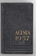 Agenda Carré In-8° Calendrier 1957 Utilisé Pour Dépenses Une Page Tarifs Postaux - Calendars