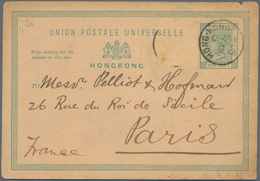 Hongkong - Ganzsachen: 1880/1946 (approx.), Old Dealer Stock With Approx. 160 Postal Stationery Card - Postal Stationery