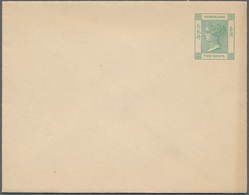 Hongkong - Ganzsachen: 1900/46 (approx.), 68 Postal Stationery Envelopes And Newspaper Wrappers From - Postal Stationery