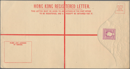 Hongkong - Ganzsachen: 1903/75 (approx.), 46 Registration Letter Envelopes Of Various Sizes, From Th - Postal Stationery