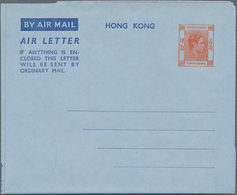 Hongkong - Ganzsachen: 1949/97, AEROGRAMS: Mint Airletters (apprx. 396), W. KGVI Webb 2 (9, Inc. Two - Postal Stationery