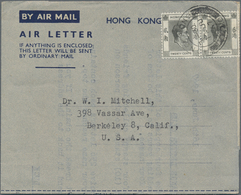 Hongkong - Ganzsachen: 1949/99, AEROGRAMS: Used Airletters Inc. Uprates (apprx. 917), Starting With - Postal Stationery