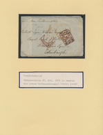 Indien: 1848-1946 Exhibition Collection Of Mostly Used Stamps, Covers And Postal Stationery Well Wri - India (...-1947)