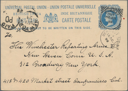 Indien: 1850's To Semi-modern: Assortment Of More Than 2700 Postal Stationery Items, Covers And Post - India (...-1947)
