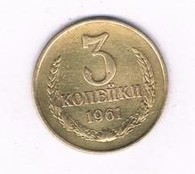 3 KOPEK 1961 CCCP RUSLAND /4076/ - Russland
