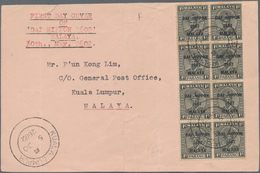 Japanische Besetzung  WK II - Malaya: General Issues, 1942/44, Covers With Ovpt. Issues (6 + 1 Front - Malaysia (1964-...)