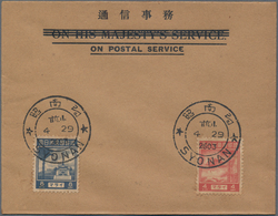 Japanische Besetzung  WK II - Malaya: General Issues, 1943, 4 C. And 8 C. On Unaddressed Blanc FDC ( - Malaysia (1964-...)