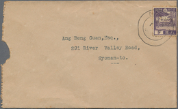 Japanische Besetzung  WK II - Malaya: General Issues, 1943/44 Covers With Regulars (5) Or Japan 1938 - Malaysia (1964-...)