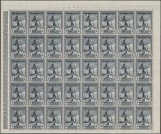"""Jemen - Königreich: 1948, Revenues/Fiscals """"Defense"""", 5b. Slate And 2½a. Grey-violet (highest Revenu - Yemen"""