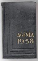 Agenda Carré In-8° Calendrier 1958 Utilisé Pour Dépenses Une Page Tarifs Postaux - Calendars