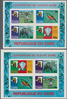 Kongo (Kinshasa / Zaire): 1979, River Expedition On The Zaire, Birds, Lion, Elephant, Diamond. IMPER - Zaïre