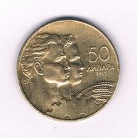 50 DINAR 1955 JOEGOSLAVIE /4077/ - Yugoslavia