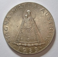 AUSTRIA 5 SCHILLING 1935 MAGNA MATER AUSTRIAE. SILVER, ARGENT. AUTRICHE. - Austria