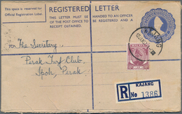 Malaysia: 1960's-80's Ca.: About 100 Postal Stationery Registered Envelopes From Mostly Different Po - Malaysia (1964-...)