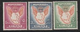 SOUDAN - N°116/8 ** (1956) - Sudan (1954-...)