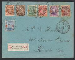 """Croix-rouge - N°150 Au 156 Sur Lettre En Recommandé """"Postes Militaires / Legerposterij 1"""" (1920) > Knocke-S-Mer - Oorlog 14-18"""