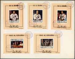 Ras Al Khaima: 1966/1972, 24 Profoundly Described And Prized Items, Including Deluxe Sheets, Sets , - Ras Al-Khaimah