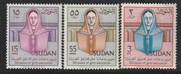 SOUDAN - N°137/9 ** (1961) - Sudan (1954-...)