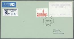 Südafrika - Automatenmarken: 1983, Four Big Boxes Containing Ca. 6500-7000 (registered)-airmail-lett - Vignettes D'affranchissement (Frama)