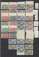 Syrien: 1930-50, Stock Of Imperf Issues In Large Album Including Air Mails, Many Imperfs In Pairs, M - Siria