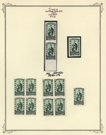 Syrien: 1942/1953, Specialised Mint Collection On Album Pages, Showing Blocks Of Four, Plate Blocks, - Siria