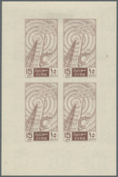 Syrien: 1955/1958 (ca.), Accumulation Of About 170 Imperforate SPECIAL MINIATURE SHEETS In Album Wit - Siria