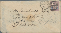Thailand: 1890-1930's: Nine Covers From/to Siam Including 1890 Cover From London To Bangkok, Several - Thaïlande