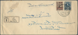 Thailand: 1927, 19 Airmail Letters All In Domestic Use, Eight Of Them Sent Registered From Different - Thaïlande