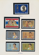 Thailand: 1987 Five Year Booklets Containg The Issued Stamps, No Miniature Sheets, Each Includes The - Thaïlande