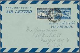 Thailand - Ganzsachen: 1930's-1980's Ca. AEROGRAMS: About 340 Aerograms/air Letters, Used Or Unused, - Thaïlande