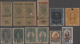 Thailand - Besonderheiten: 1880-1980 Ca.: Collection Of Siamese REVENUES & FISCALS, With More Than 1 - Thaïlande