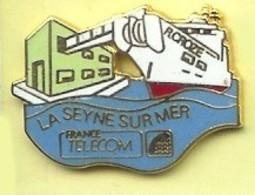 @@ Bateau Navire Câblier Raymond Croze France Télécom La Seyne Sur Mer Var Paca EGF Neuf (2x2.5) @@poFT55 - France Telecom
