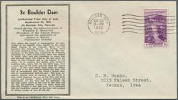 Vereinigte Staaten Von Amerika: 1929/1945 (focus On 1930s), Lot Of 107 FDC Often Bearing Stamps In U - Vereinigte Staaten