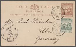 Alle Welt: Ab 1870 (ca.), Sammlung Von Ca. 488 Ganzsachen, Gebraucht Und Ungebraucht, In Uraltem RIE - Stamps