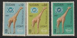 SOUDAN - N°195/7 ** (1967) - Sudan (1954-...)