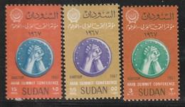 SOUDAN - N°201/3 ** (1967) - Sudan (1954-...)