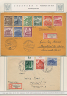 Thematik: Einschreibbriefe Und -Zettel / Registered Covers And Labels: 1937/1988, Frankfurt/Main, Vi - Sellos