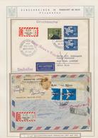 Thematik: Einschreibbriefe Und -Zettel / Registered Covers And Labels: 1946/1991, Flughafen Frankfur - Sellos