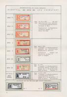 Thematik: Einschreibbriefe Und -Zettel / Registered Covers And Labels: 1947/1955, DEVISENPOSTSTELLEN - Sellos