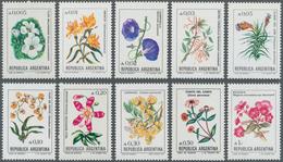 Thematik: Flora, Botanik / Flora, Botany, Bloom: 1985, ARGENTINA: Flower Definitives Complete Set Of - Plants