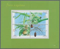 "Thematik: Flora, Botanik / Flora, Botany, Bloom: 2004, Angola: ""CROP PLANTS"" Souvenir Sheet, Investm - Plants"