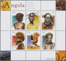 "Thematik: Frauen / Women: 2003, Angola: ""TRADITIONAL WOMEN'S HAIRSTYLE"" Miniature Sheet, Investment - Sellos"