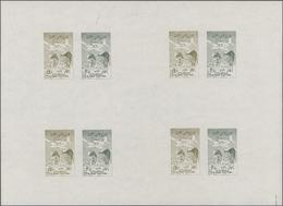 Thematik: Kinder / Children: 1958, UAR. Gliding Festival. Collective Proof Sheet Of 4 Imperforate Se - Kind & Jugend
