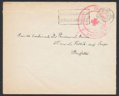 """Guerre 40-45 - Enveloppe En Franchise + Grand Cachet """"Croix Rouge De Belgique / Liège"""" (1941) > Bruxelles - Weltkrieg 1939-45"""