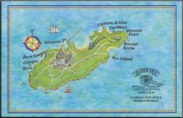 Großbritannien - Guernsey: Alderney: 1998, Garrison Island Part I & II Prestige Booklet, Investment - Alderney